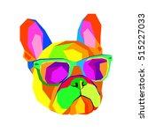 french bulldog. print on... | Shutterstock .eps vector #515227033