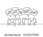 crowd of working little people... | Shutterstock .eps vector #515227390