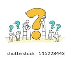 sketch of working little people ... | Shutterstock .eps vector #515228443
