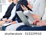 close up of hands holding pens... | Shutterstock . vector #515229910