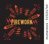 firework background company... | Shutterstock .eps vector #515231764