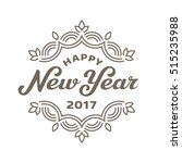 happy new year 2017 lettering... | Shutterstock .eps vector #515235988
