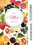vector fruit and berry banner.... | Shutterstock .eps vector #515239084