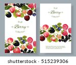 vector mix berry banners.... | Shutterstock .eps vector #515239306