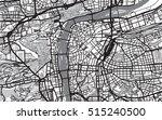 urban city map of prague | Shutterstock .eps vector #515240500