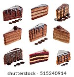 collection of various chocolate ... | Shutterstock . vector #515240914
