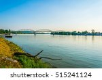 Small photo of View of the Maria Valeria bridge over danube river in esztergom, Hungary