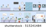 bank and office interior.... | Shutterstock .eps vector #515241484