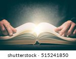 book wisdom life read magic... | Shutterstock . vector #515241850