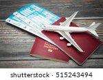 ticket flight air plane travel... | Shutterstock . vector #515243494