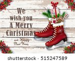 christmas greeting card with... | Shutterstock .eps vector #515247589