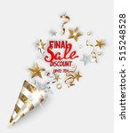final sale banner with gold and ... | Shutterstock .eps vector #515248528