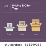 opened cardboard boxes for... | Shutterstock .eps vector #515249353