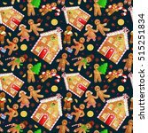 seamless pattern christmas... | Shutterstock .eps vector #515251834