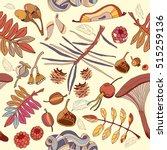 autumn seamless pattern wild... | Shutterstock .eps vector #515259136