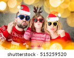 funny portrait of happy family... | Shutterstock . vector #515259520
