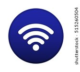 wifi logo vector button  blue...