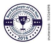 best employer of the year 2016  ... | Shutterstock .eps vector #515264098
