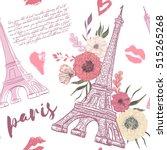 paris. vintage seamless pattern ... | Shutterstock .eps vector #515265268