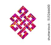 eternity knot buddhist symbol... | Shutterstock .eps vector #515266600