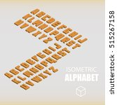 set of isometric alphabet... | Shutterstock .eps vector #515267158