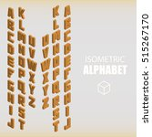set of isometric alphabet... | Shutterstock .eps vector #515267170