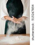chef preparing dough   cooking... | Shutterstock . vector #515267854