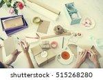 gift present sale trendy woman... | Shutterstock . vector #515268280