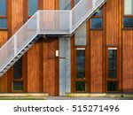 escape stairs on a modern... | Shutterstock . vector #515271496