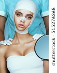 beautiful woman after plastic... | Shutterstock . vector #515276368