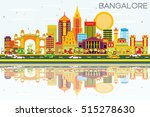 bangalore skyline with color... | Shutterstock .eps vector #515278630