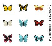 flying butterfly icons set.... | Shutterstock .eps vector #515280040