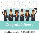 group of diverse school ... | Shutterstock .eps vector #515280490