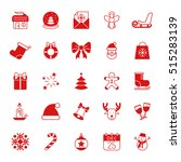 collection of 25 christmas and... | Shutterstock . vector #515283139