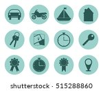 Set Of Colored Flat Icon ...