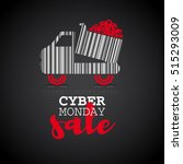 cyber monday background with... | Shutterstock .eps vector #515293009