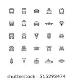flat transportation icons | Shutterstock .eps vector #515293474