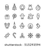 christmas icons | Shutterstock .eps vector #515293594