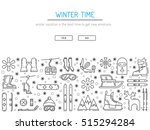 vector linear icons set of... | Shutterstock .eps vector #515294284