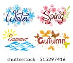 four seasons   winter  spring ... | Shutterstock .eps vector #515297416