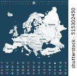 europe high detailed political... | Shutterstock .eps vector #515302450