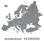 europe vector high detailed... | Shutterstock .eps vector #515302453