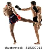 muay thai kickboxing kickboxer... | Shutterstock . vector #515307013
