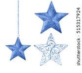 Watercolor Christmas  Stars....