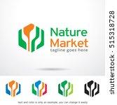 nature market logo template...   Shutterstock .eps vector #515318728