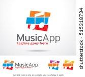 music logo template design... | Shutterstock .eps vector #515318734