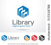 abstract library logo template... | Shutterstock .eps vector #515318788