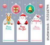 tags set with santa  reindeer ... | Shutterstock .eps vector #515318794