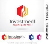 investment logo template design ... | Shutterstock .eps vector #515318860