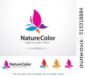 nature color logo template... | Shutterstock .eps vector #515318884